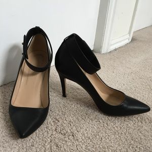 J.Crew Ankle Strap Leather Pump in Black 8
